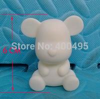 Free shipping 10pcs/lot 6CM White Model Toy Momo DIY Product Toys Bear Painting