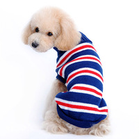 Dark Blue/Blue/Red Striped Dogs Puppy Clothing For Pets 00401 XS S M L XL  Poodle Chihuahua Cat Sweater Small Animals  Products