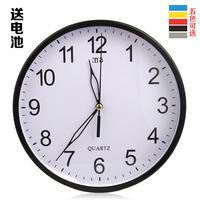 Free shipping wall clock round wall clock mechanical clock home decor clock simple fashion clock mute wall clock