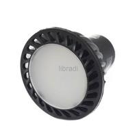 1pcs GU10 4W COB 350Lumen LED 85-265V White / Warm White Spot Light Bulb Lamp Black Case
