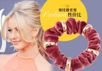 fabric velvet rubber band gold velvet hair rope popular women hair accessory 24pcs/lot