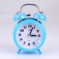 Free shipping creative cute little alarm bell ring with oversized nightlight Silent Alarm desk clock double bell lazy students