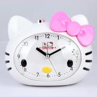 Free shipping KT cat alarm clock music voice slackers super mute scanning bed KT cat awakened bedside alarm clock snooze