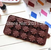 15 Modelling Flowers Shape Silicone Cake Tools Chocolate Ice Mold Cake Decoration Jelly Pudding Kitchen
