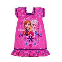 2014 Summer fashion girls sleep dress girls frozen nightdresses frozen nightgown elsa and anna sleepwear kids frozen pyjama