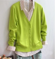 Free shipping 2014 Spring and autumn women's cardigans full-sleeve woollen sweater wholesales