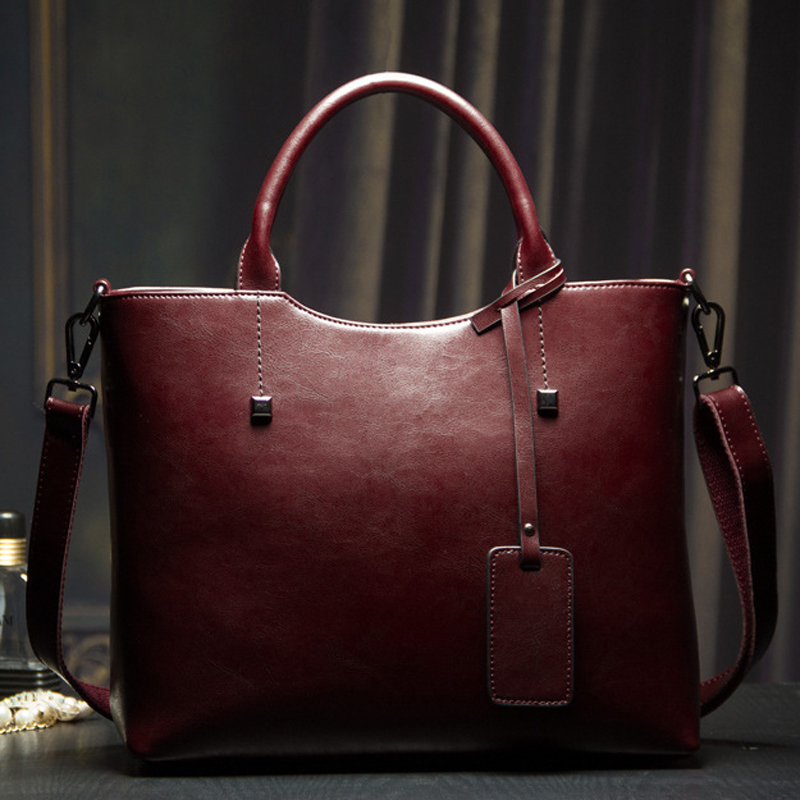 2014 the new tide fashion in Europe and America oil wax leather hand his single shoulder bag retro leather handbag(China (Mainland))