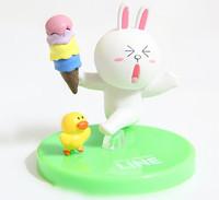 "LINE APP Cute Cony 2"" Figure WHITE"
