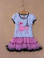 summer girls dress children's clothing  tutu  cartoon dog dot  veil  dress cake dress   ETJ-Q0195