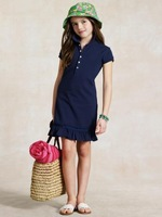 Baby kid clothes girl pleated dress short sleeve dresses free shipping