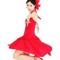 Phil square dance clothes one-piece dress skirts tassel Latin dance skirt 0520 - 42