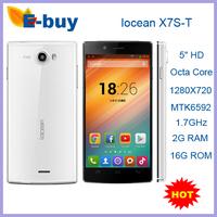 "Original iocean x7s-t Octa Core MTK6592 1.7GHz Android4.4 2GB RAM 5"" HD 1280X720 Dual SIM GPS OTG WCDMA Cell mobile Phones"