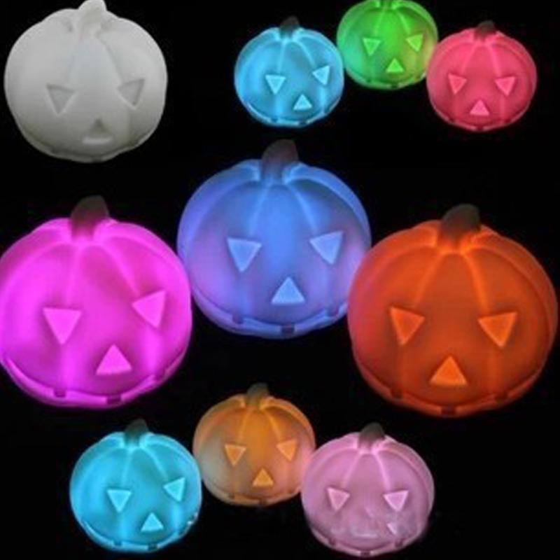 Colorful Night Light Halloween Pumpkins Halloween Supplies Props Christmas Decorations COLL2877(China (Mainland))