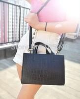 Free shipping 2014 new fashionable female BaoChao crocodile grain to hand the bill of lading shoulder bag ladies handbags