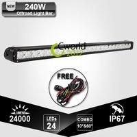 Single Row 180W CREE 39 Inch Offroad LED Driving Work Light Bar SpoT Flood Combo Beam 12V 24V Lamp For Jeep Boat 4WD UTV