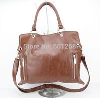 H045,Lady custom brown woman handbag, messenger bag,Korea Fashion handbags,PU + Accessories,Free shipping