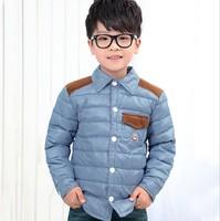 2014 Children Winter Clothing High Quality ( weight 0.55KGS) Shirt Style Down Jacket Girl Boy Winter Coat