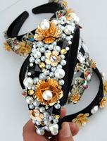 Exclusive high-end handmade Baroque style retro pearl Rhinestone Hair bands headwear hair accessories wholesale