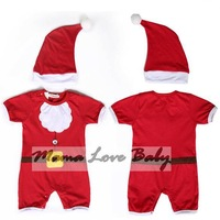5 PCS/LOT Free Shipping Embroidered Christmas Cosplay Romper Lovely Baby Clothing Set SV006487