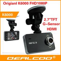 New 2014 Car DVR K6000 Novatek CPU 1920x1080P Full HD Car Camera Vehicle Dash Cam In Car DVR with G-sensor Motion Detection