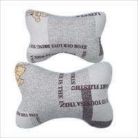 2015 cheap sales Hot New car seat headrest gray monogram neck car headrest pillow 2PCS for lumbar support pillow free shipping
