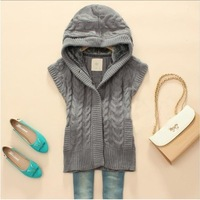 Free shipping top brand Hooded Thick Casual Sleeveless women's Sweater Wholesales