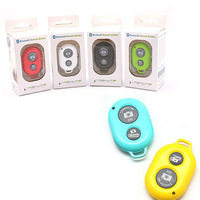 6pcs/lot Android Camera Bluetooth Remote Control Shutter Monopod Self timer for iphone 4 5s samsung Galaxy S4 NO Battery 6colors