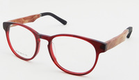 2014 fashion eyeglasses Free Shipping New design Acetate Frame Wood+rubber Temples Optical Frame model ZF110