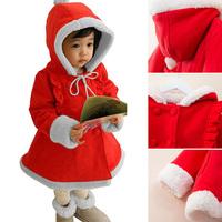Cute Kids Baby Girls Winter Jacket Xmas Hooded Coat Snowsuit Sweatshirts Outwear