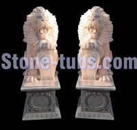 marble carving outdoor lion statues garden sculpture for sale