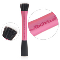 Real Techniques Super soft Taklon hair rose red makeup brushes face Foundation powder Contour brush Professional Cosmetic tool