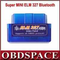 2014 Lowest Price Super Mini ELM327 Bluetooth V2.1OBD2 auto code reader mini ELM 327 Car diagnostic interface ELM 327 FREE
