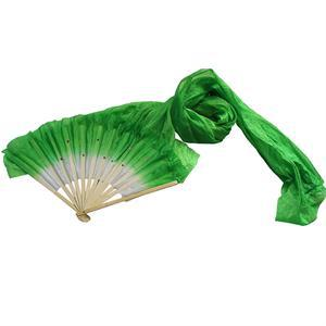 FA 2014 Beautiful Elegant Women Belly Dancing Fans Simulation Bamboo Long Veils Fans Hand Made Red Rose Green Yellow Blue(China (Mainland))