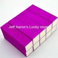 10 PCS Purple Nail Art Buffer Block Sanding File  Nail Care Tool beauty salon equipment