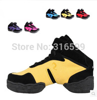 Hot SaleCanvas Dance Shoes Modern  Sports Unisex Jazz Breath Sneakers High-heeled and Low Sizes EU34 to EU45 Free Shipping DS003