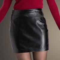 Free shipping New arrival women fashion sheep A-line skirts,genuine leather lady mini skirts,lolita stlye skirts