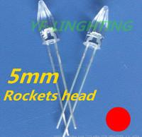 Christmas Light strip 5mm Rocket head led RED color Astigmatism dip led 1.8-2.2V