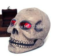 1pcs Halloween shine screaming skull cranium Skull Head CrossBones Skullcandy model for friend gift research party,Free Shipping