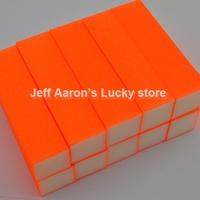 10 PCS Shiny Orange Nail Art Buffer Block Sanding File  Nail Care Tool beauty salon equipment