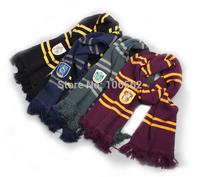 4PCS Knitting woolen Winter Harry Potter college pinstripe thickening Scarves Movie Fans' Favorite School Striped Warm Scarf
