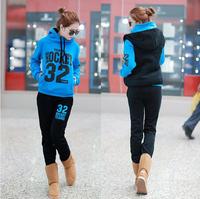2014 Autumn Winter New Women's Fashion Sweatshirt Hoodies Casual Outwear Sport Suit For Women Letter Print Tracksuit Hoody RY02