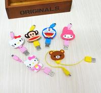 Kawaii Cartoon Rilakkuma Melody Hello Kitty USB Data Line Charging Cable for Samsung Xiaomi xx1