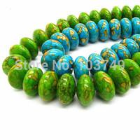 Natural Stone Beads Assorted Blue Green Oblate Loose Turquoise Jewelry Making Bead Tourmaline Cabochon Quartz joaninha HA032