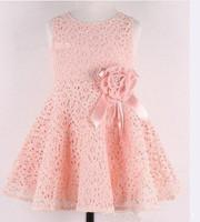 Cute girls clothing tutu sweet princess lace Slim small flowers  Dress