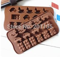 Horse Car Shape Chocolate /Silicone Soap /Ice/Jelly Pudding/Cake Decorating Mold