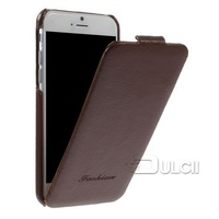 For iPhone 6 Genuine Leather Case , Luxury Litchi Texture Vertical Genuine Leather Shell for iPhone 6 4.7-inch