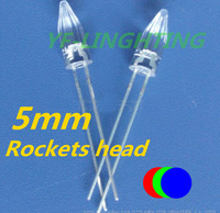 Rocket head led 5mm rgb slow flashing led Christmas tree Lighting color changing strip led