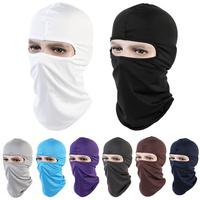 Black White Gray Motorcycle Cycling Ski Neck protecting Outdoor lycra Balaclava Full Face Mask CS field anti-terroris Masks