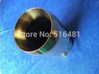 UNIVERSAL Tip 7.5cm Inlet Gold Stainless Steel Exhaust Resonator Muffler