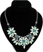 cxt98965 Costly Rhinestone Acrylic flower temperament Fashion Jewelry  Brand Chain Chokers Necklace Pendants Collar Statement